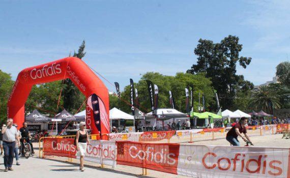 Circuito de pruebas en los E-Bike Days de Valencia.
